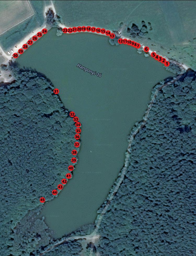 Hangonyi-tó térkép